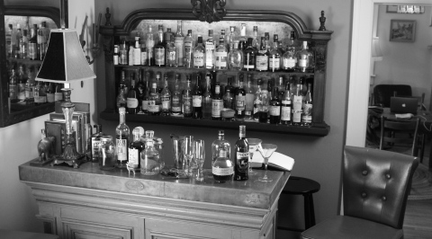 The bar at Coal Stove Sink.