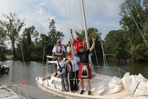 Team Tartan in the 2012 Leukemia Cup.