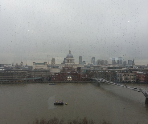 London from the Tate Modern restaurant.  Rain rain rain.