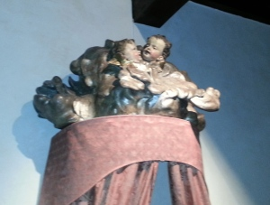 Angels overhead.