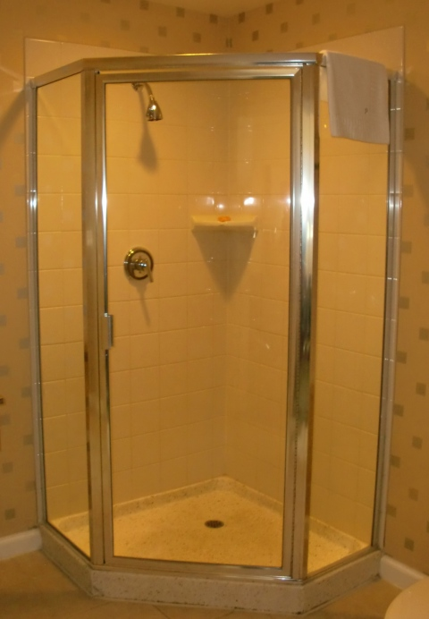 This shower is not plastic.