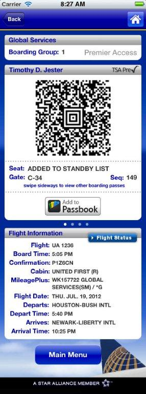 United app puts a TSApre icon on boarding passes now.