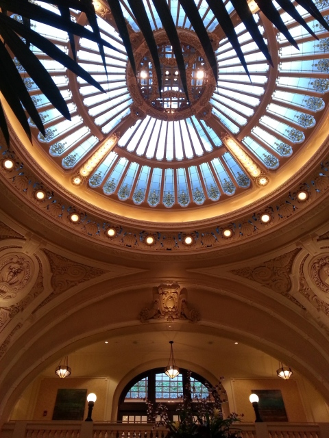 Battle House lobby dome.