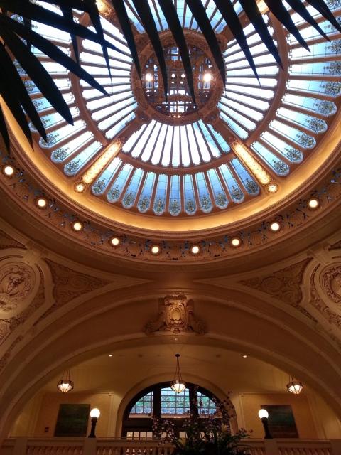 Battle House lobby dome.