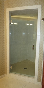 402 shower = glass