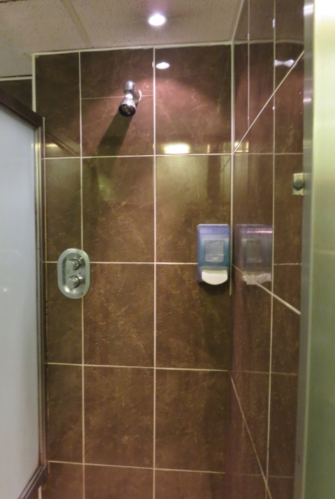 Non-plastic shower.