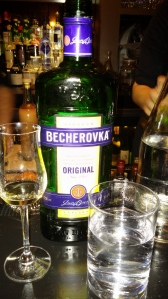Becherovka is a cinnamon bitters from the Czech Republic