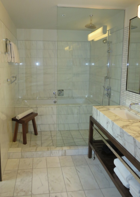 Showering area