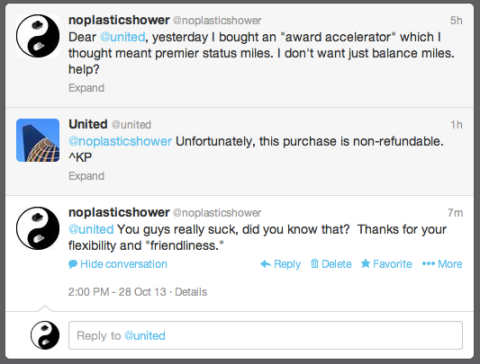 United does the twitter BADLY.