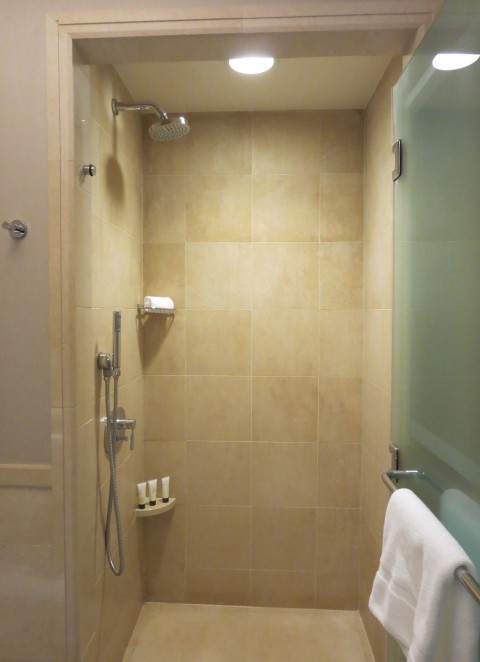Not a plastic shower.