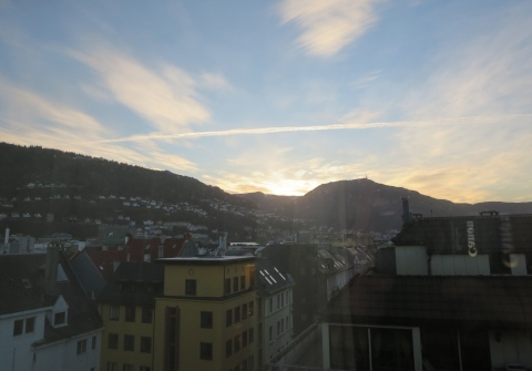 Bergen in the morning