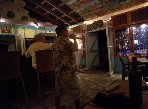 Apol sings Karaoke
