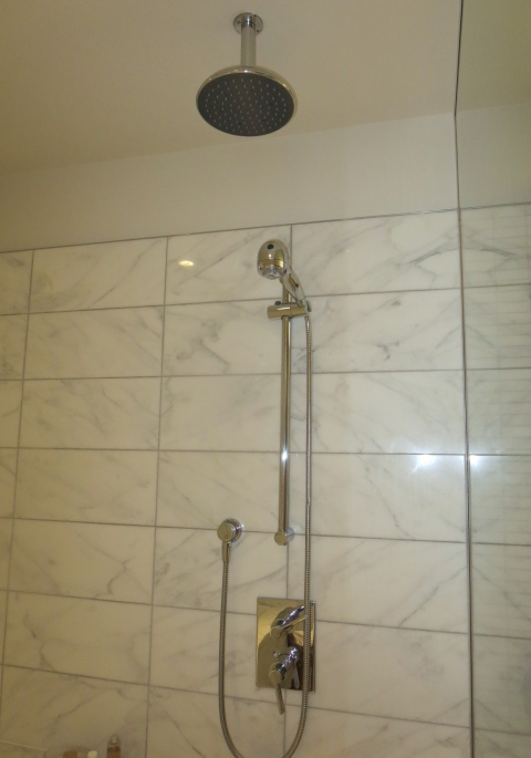 Two shower heads in the shower.  And plenty of water pressure.  Ahhh.