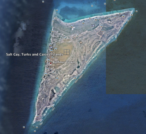 Salt Cay: a speck from space