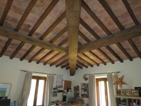 Incredible beam ceiling.