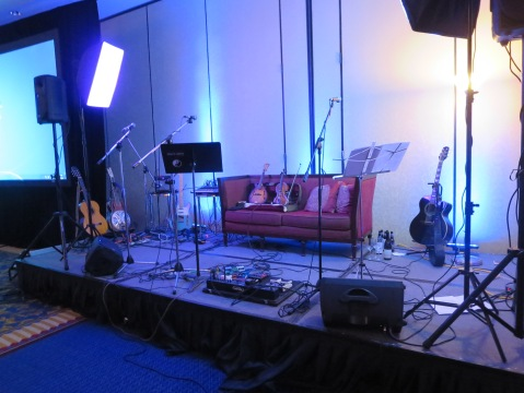 The stage ready for some Gently Let Down by Catherine.