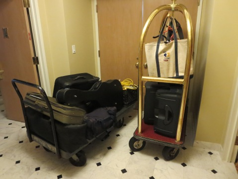Too much luggage for the front door?  Nah.