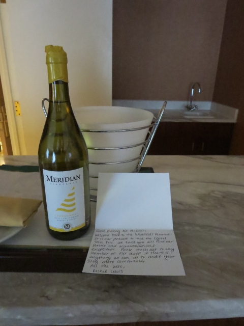 Thanks for the note and the wine.