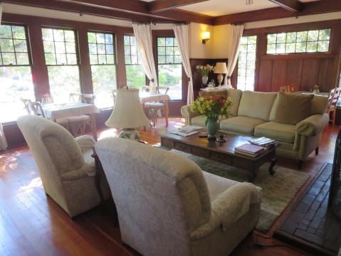 The Cowper Inn living room (where I am typing this)