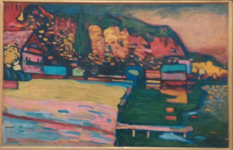 Kandinski and the very beginning of abstraction