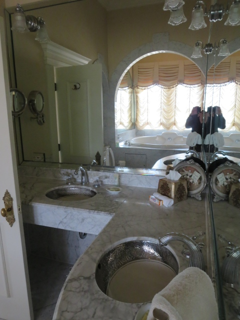 The powder room has his and her sinks (no hers and hers in TX!)
