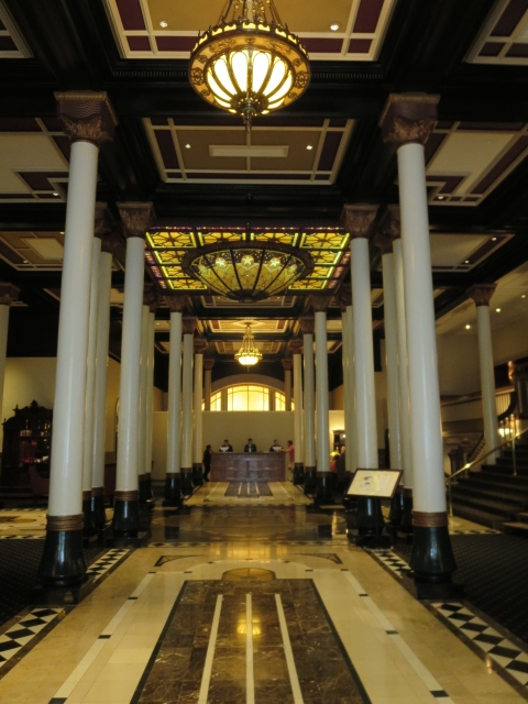 The Driskill Lobby screams cattle baron