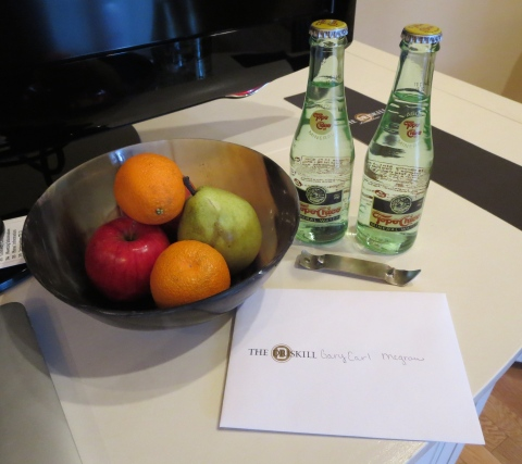 Amenity and personal note. Nice touch Driskill.
