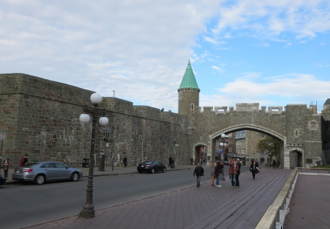 Quebec is the only walled city in North America