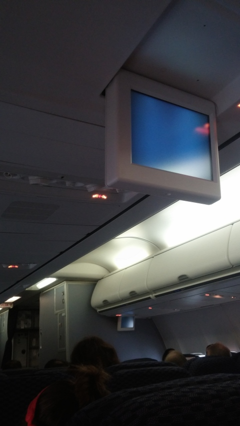 This is the advanced technology display on an actual United aircraft