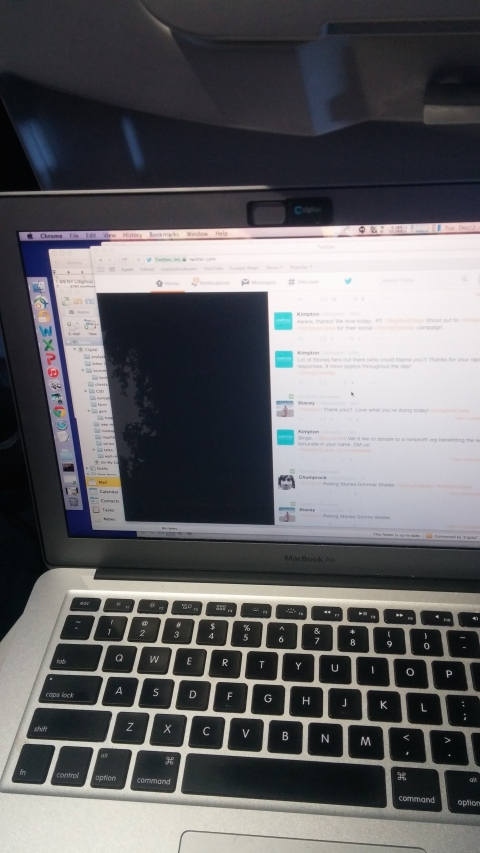 Virgin is too crammed for a mac air
