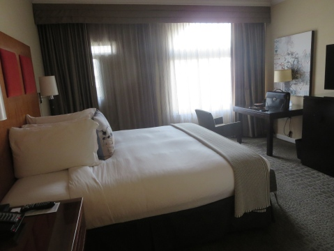 The room in all of its entirety. 831 Hotel Palomar.