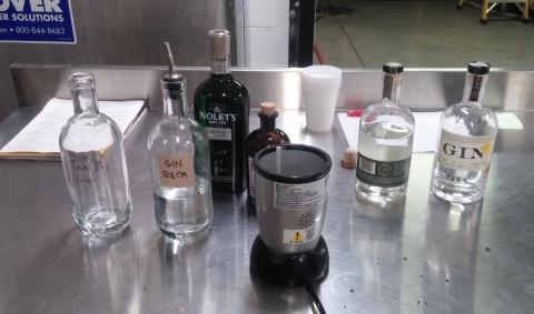 Gin testing bench