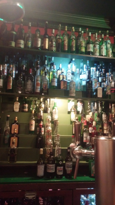 1/3 of the wall of absinthe at Floris