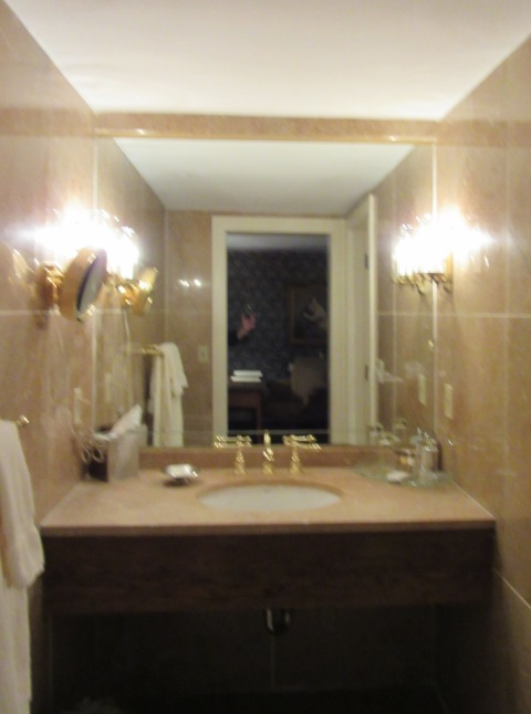 Marble clad bathroom