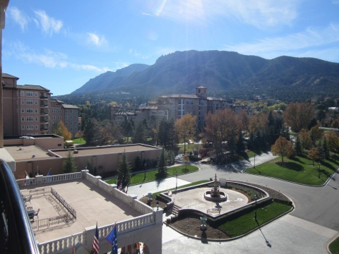 The Broadmoor West overlooking Cheyenne mountain