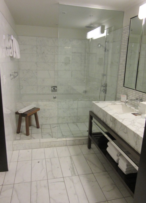 Awesome glass and marble palace of a shower
