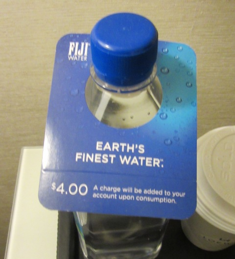 "Listen ""luxury"" hotel. People in ""superior suites"" should not pay $4 for water."