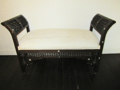 And a Morrocan bench (is that ivory?)