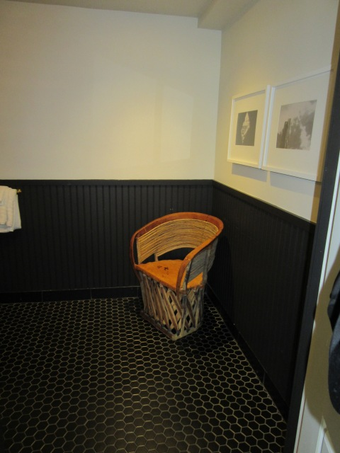 Extra chair in the bathroom?  OK