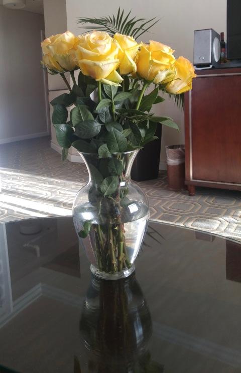 Flowers. Buy self.