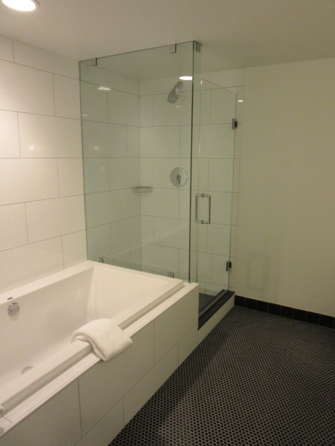 The glass shower cube